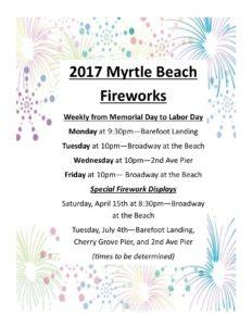 Myrtle beach fireworks, north myrtle beach fireworks